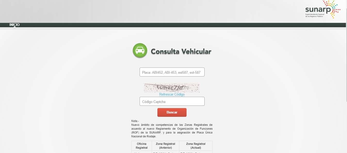 consulta vehicular
