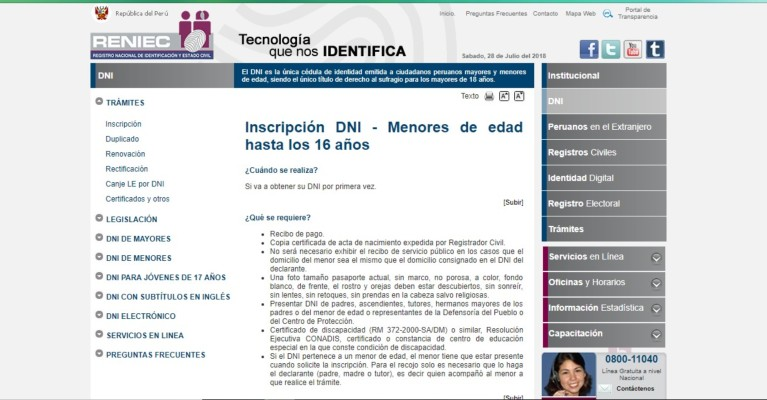 inscripcion menores