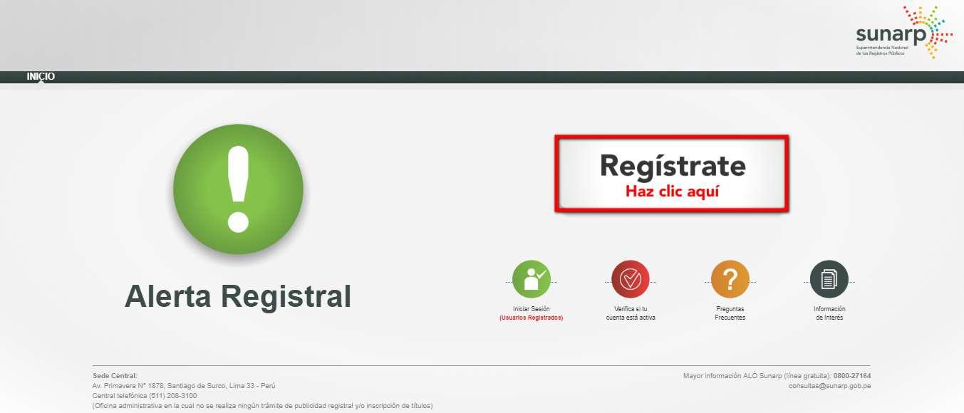 registrate alerta registral
